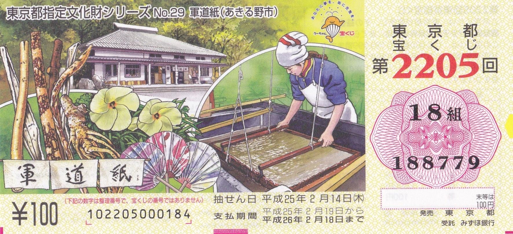 宝くじ(中川幸子さん)